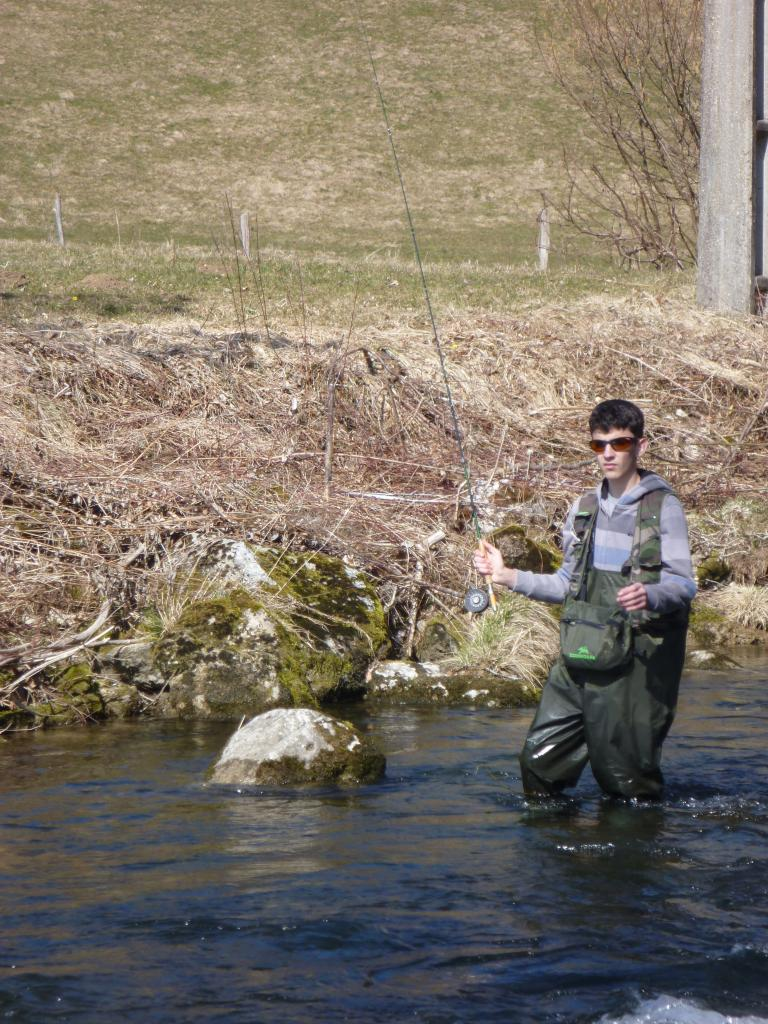 Edouard en action de pêche