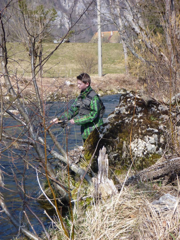 Florian en action de pêche